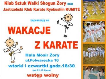 """Na bezpłatne, wakacyjne lekcje karate zapraszają Klub Sztuk Walki """"Shogun"""" oraz Jastrzębski Klub Karate Kyokushin """"Kumite"""" (fot. materiały prasowe)"""