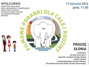 """""""Proszę słonia"""" został zrekonstruowany cyfrowo dzięki czemu widzowie mogą cieszyć się tą animacją na nowo (fot. mat. organizatora)"""