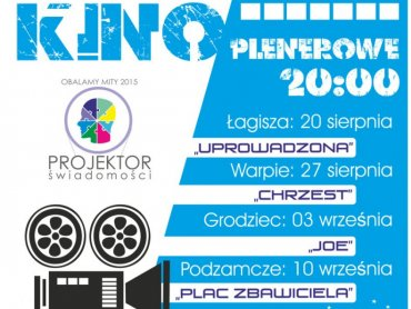 """Kino plenerowe połączone z poradami psychologa to część kampanii """"Projektor Świadomości"""" (fot. mat. organizatora)"""