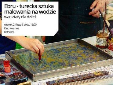 Na nietypowe zajęcia malowania na wodzie zaprasza Kino Kosmos (fot. mat. organizatora)