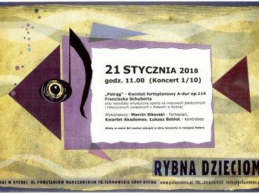 W Pałacu w Rybnej odbywać się będą cykliczne koncerty muzyki klasycznej z cyklu Rybna Dzieciom (fot. mat. organizatora)