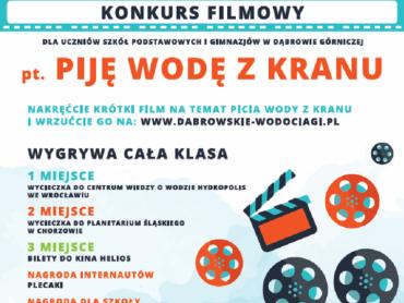 Klasy z Dąbrowy Górniczej mogą wziąć udział z konkursie filmowym organizowanym przez dąbrowskie wodociągi (fot. mat. organizatora)