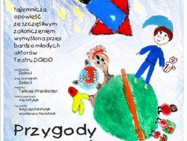 """""""Przygody Krzysia w kosmosie"""" to spektakl stworzony przez dzieci z Młodzieżowego Domu Kultury w Łabędach (fot. mat. organizatora)"""