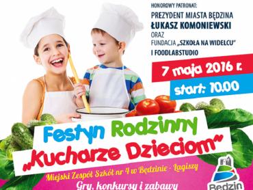 """""""Kucharze dzieciom"""" to festyn rodzinny, który odbędzie się w Będzinie (fot. mat. organizatora)"""