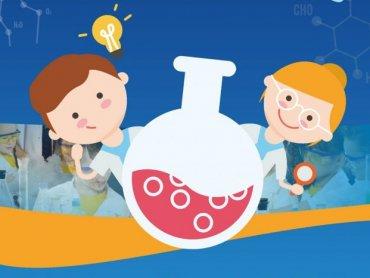 """""""Laboratorium chemiczne"""" to nazwa warsztatów dla dzieci organizowanych przez Dom Kultury w Rybniku-Boguszowicach (fot. mat. organizatora)"""