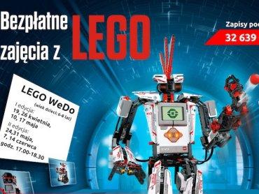 Bezpłatne zajęcia z robotami Lego odbywają się w Miejskiej Bibliotece Publicznej w Dąbrowie Górniczej (fot. mat. organizatora)