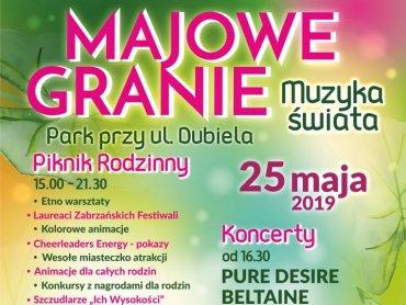 Majowe Granie odbędzie się w Parku przy ul. Dubiela w Zabrzu (fot. mat. organizatora)