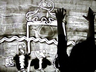 Obraz malowany piaskiem wykonany podczas zajęć w Muzeum Górnośląskim (fot. archiwum MGB)