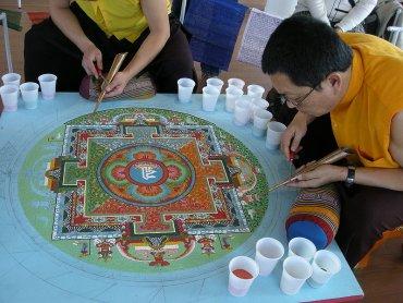 Mandala to motyw artystyczny występujący głównie w sztuce buddyzmu tantrycznego (fot. Ji-Elle/wikipedia)