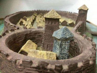 Makieta wczesnośredniowiecznego grodu (fot. Beata Badura)