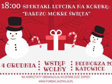 """""""Mikołajki u Fundacji z Pasją"""" to propozycja bezpłatnych warsztatów i spektaklu dla całych rodzin (fot. mat. organizatora)"""