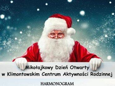 Mikołajkowy Dzień Otwarty w Klimontowskim Centrum Aktywności Rodzinnej zaplanowano na 8 grudnia (fot. mat. organizatora)