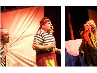 Różne formy teatralne dodatkowo urozmaicają spektakl (fot. Teatr Gry i Ludzie)