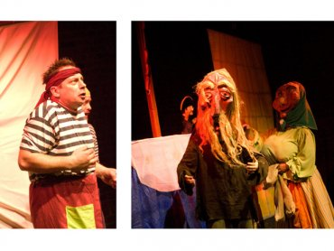 Kapitan Guliwer wraz z dzielną załogą zabiorą młodych widzów w wyjątkowy rejs (fot. Teatr Gry i Ludzie)