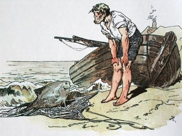 """""""O rybaku i rybce... w torebce"""" - to tytuł jednej z eko-bajek, którą można znaleźć na stronie katowice.eu/miasto (fot. mat. organizatora)"""