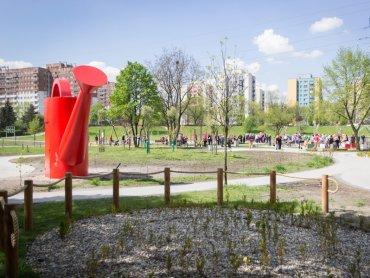 Ogród polisensoryczny powstał w Sosnowcu przy ul. Ostrogórskiej (fot. Maciej Łydek/UM Sosnowiec)