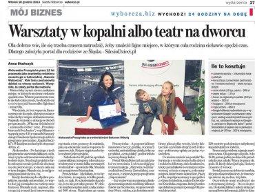 Gazeta Wyborcza, 10 grudnia 2013 r.