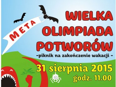 """Olimpiada Potworów to impreza kończąca biblioteczne """"Literackie lato grozy na wesoło"""" (fot. mat. organizatora)"""