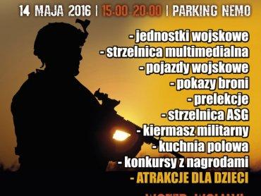 """Piknik militarny odbędzie się na parkingu przed basenem """"Nemo - Świat Rozrywki"""" (fot. mat. organizatora)"""