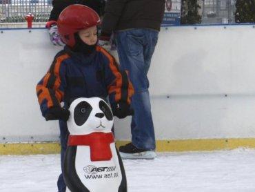 Na gliwickim lodowisku Piruet znajdziecie udogodnienia dla najmłodszych łyżwiarzy (fot. mat. prasowe)