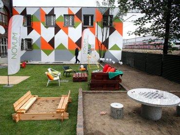 Nowo powstały plac zabaw przy ul. Czarnieckiego 1 w Katowicach-Zawodziu (fot. mat. organizatora)