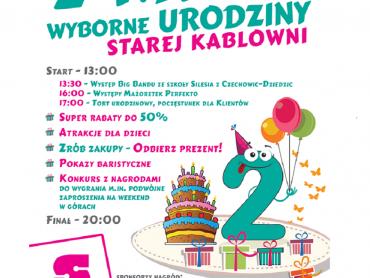 Z okazji 2. urodzin CH Stara Kablownia przygotowała atrakcje dla calej rodziny (fot. mat. organizatora)