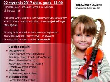 Tyskie Dni Suzuki zakończy otwarty dla wszystkich koncert, który odbędzie się 22 stycznia (fot. mat. organizatora)