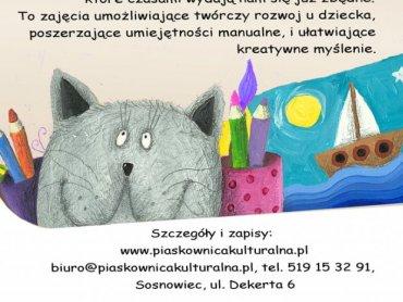 Pracownia Malucha to zajęcia dla dzieci lubiących kredki, farby i klej (fot. mat. organizatora)