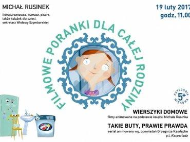 Gościem Dziecięcego Saloniku Filmowego będzie Michał Rusinek (fot. mat. organizatora)