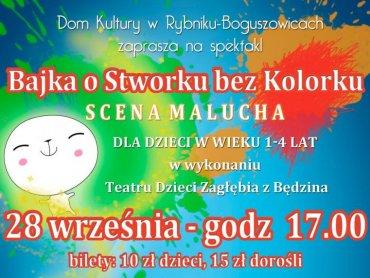 Dom Kultury w Rybniku-Boguszowicach zaprasza na spektakl, kiermasz i kilka innych atrakcji (fot. materiały organizatora)
