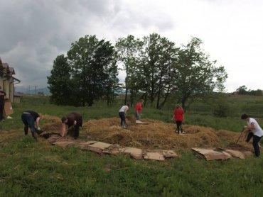 Na grządkach jest jeszcze sporo miejsca na sadzonki (fot. materiały Fundacji Klamra)