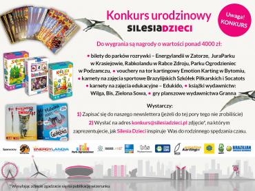 Świętujcie z nami nasze 3. urodziny biorąc udział w konkursie (fot. mat. Silesia Dzieci)