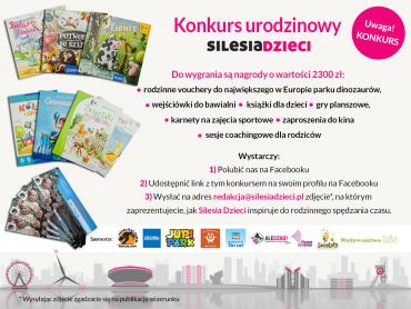 W naszym konkursie urodzinowym aż 13 osób zdobędzie atrakcyne nagrody. Ślijcie swoje zdjęcia na adres: redakcja@silesiadzieci.pl (fot. mat. Silesia Dzieci)