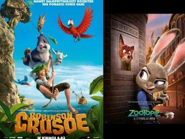 """Mamy dla Was bilety na """"Zwierzogród"""" oraz """"Robinsona Crusoe"""" (fot. mat. Planet Cinema)"""