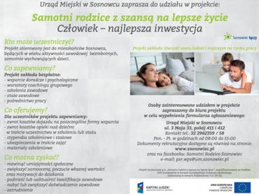 """Projekt """"Samotni rodzice z szansą na lepsze życie"""" pomoże znaleźć pracę i nie tylko (fot. materiały UM w Sosnowcu)"""