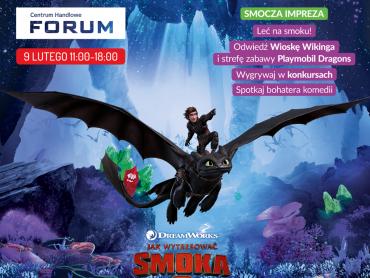 """Inspiracją do zabaw i warsztatów dla dzieci w CH Forum 9 lutego będzie film """"Jak wytresować smoka 2"""" (fot. mat. organizatora)"""