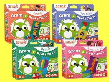 """""""Gram z Sówką Zuzią"""" to edukacyjna seria dla dzieci w wieku 2+ (fot. mat. Zielona Sowa)"""