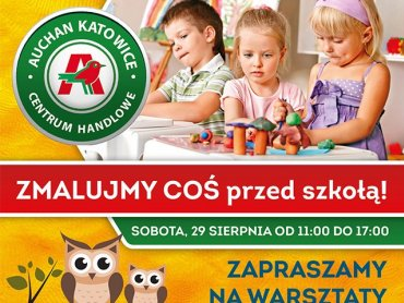 Warsztaty artystyczne i konkursy to propozycja katowickiego Auchan na zakończenie wakacji (fot. mat. organizatora)