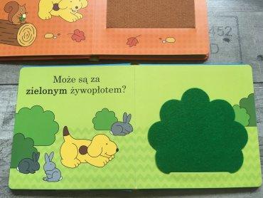 Książka zawiera elementy ukryte za okienkami ( fot. Ewelina Zielińska/SilesiaDzieci.pl)
