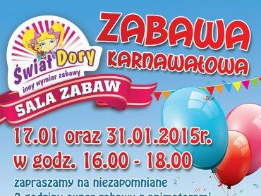 Świat Dory zaprasza na bal karnawałowy (fot. mat. bawialni)