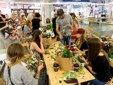 Na warsztatach, zorganizowanych podczas targów, będzie można stworzyć własne roślinne kompozycje (fot. archiwum zdjęć na Fb/GrandBazar)