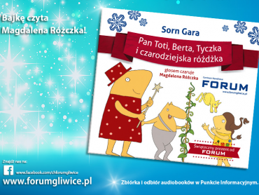 Każdy, kto przekaże złotówkę na niepełnosprawnych otrzyma audiobooka (fot. mat. CH Forum)