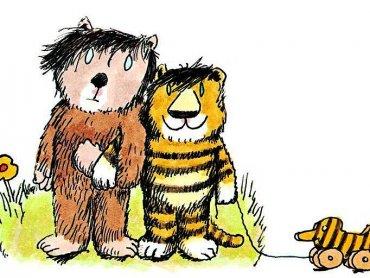 Tygrysek i Misiu to najpopularniejsi bohaterowie bajek Janoscha. Postacie te zostały też przez niego zilustrowane (fot. mat. promocyjne)