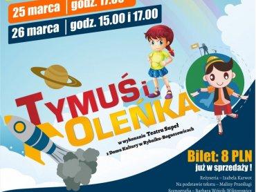 """""""Tymuś i Oleńka"""" to najnowszy spektakl Teatru Supeł działającego przy Domu Kultury w Boguszowicach (fot. mat. organizatora)"""