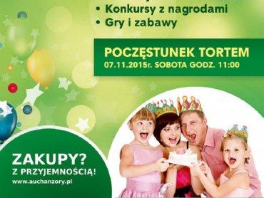 CH Auchan Żory zaprasza dzieci i rodziców na atrakcje urodzinowe  (fot. mat. organizatora)