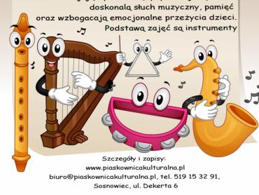 Na zajęcia rytmiczno-melodyczne zaprasza Piaskownica Kulturalna (fot. mat. organizatora)