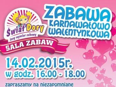 Sala zabaw Świat Dory zaprasza na bal walentynkowy (fot. mat. bawialni)