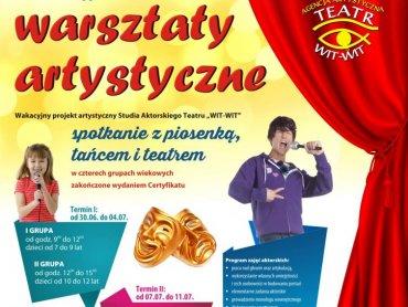 """Teatr """"Wit-Wit"""" zaprasza na wakacyjne warsztaty artystyczne (fot. materiały prasowe)"""