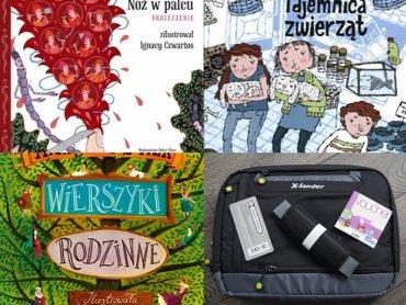 W naszym konkursie można wygrać torbę na laptopa, voucher do Jupi Parku oraz książki (fot. alex)