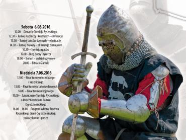 XIX Turniej Rycerski odbędzie się 6-7 sierpnia na Zamku Ogrodzienieckim (fot. mat. organizatora)